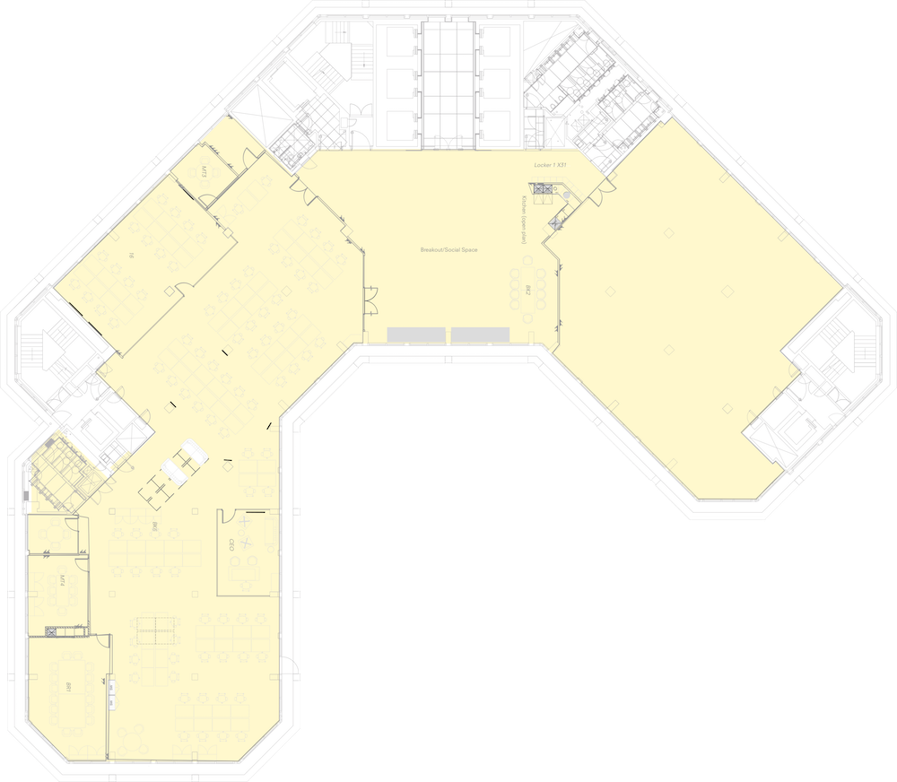 Eighth floor fitted out plan